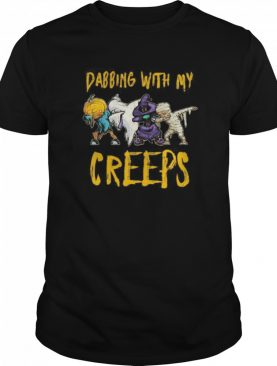 Dabbing With My Creeps Halloween Funny Matching Fiends shirt