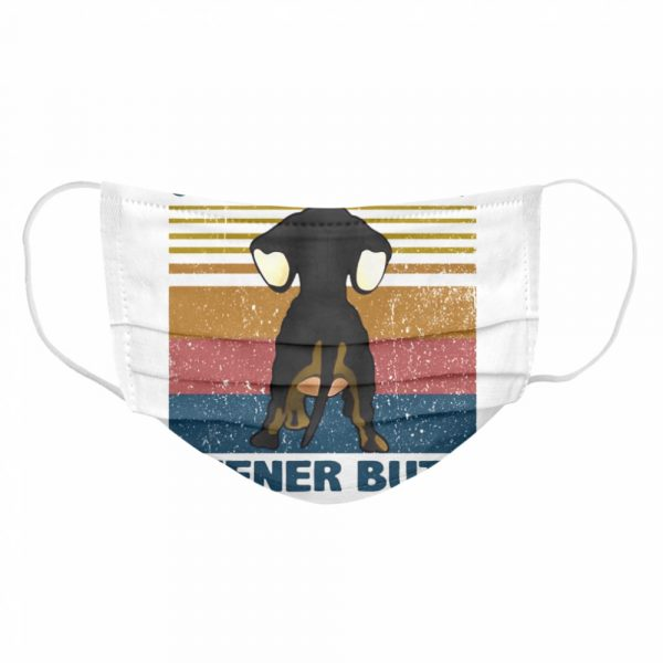 Dachshund Guess What Wiener Butt Vintage  Cloth Face Mask