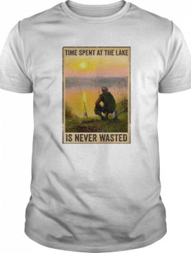 Fishing Time Spent At The Lake Is Never Wasted Vertical Poster shirt