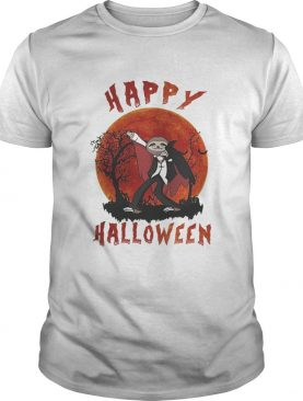 Happy halloween sloth sunset shirt