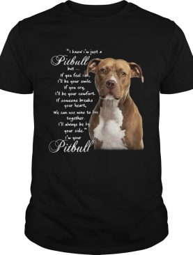 I Know Im Just A Pitbull But If You Feel Sad Ill Be Your Smile If You Cry shirt