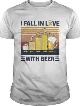 I fall in love with beer vintage retro shirt