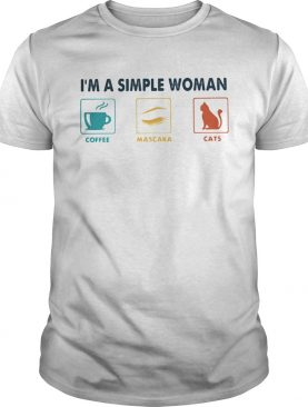 Im a simple woman coffee mascara cats shirt
