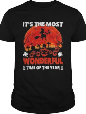 Its The Most Wonderful Time Of The Year Witch Black Cat Halloween shirt