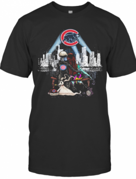 Jack Skellington And Sally Seeing Chicago Cubs T-Shirt