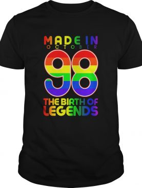 LGBT Made In October 98 The Birth Of Legends shirt
