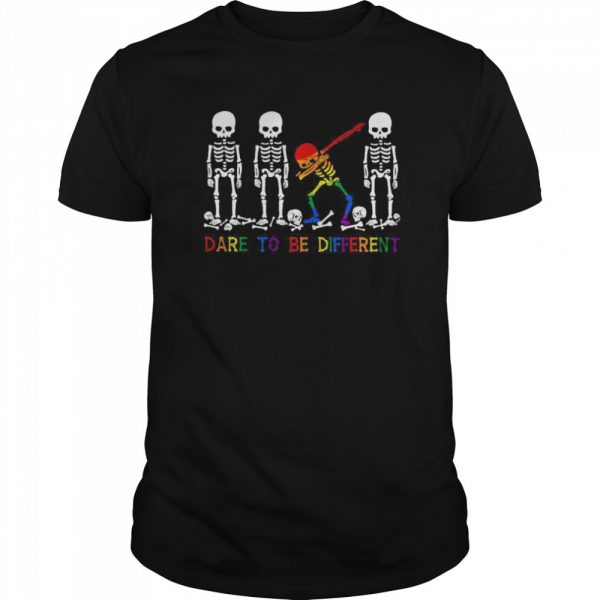 LGBT Skeleton Dare To Be Different  Classic Men's T-shirt