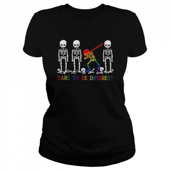 LGBT Skeleton Dare To Be Different  Classic Women's T-shirt
