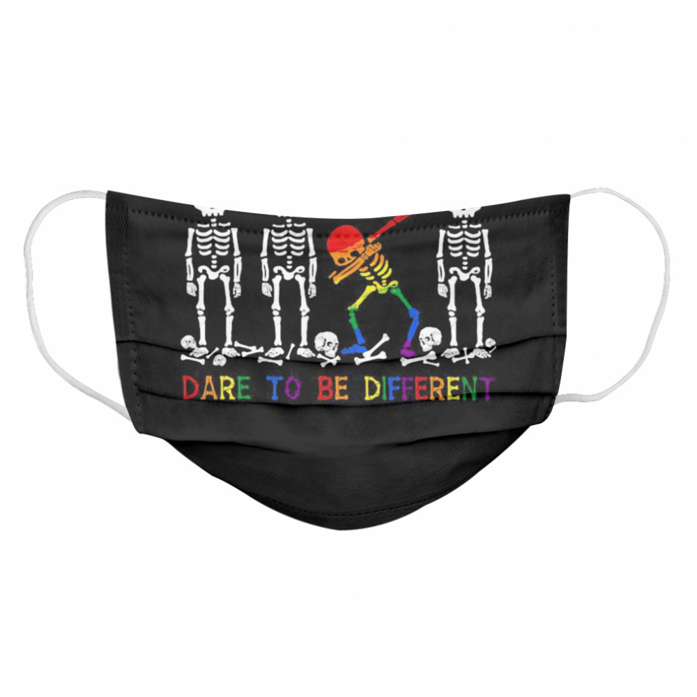 LGBT Skeleton Dare To Be Different Cloth Face Mask