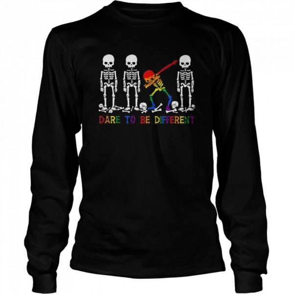 LGBT Skeleton Dare To Be Different  Long Sleeved T-shirt