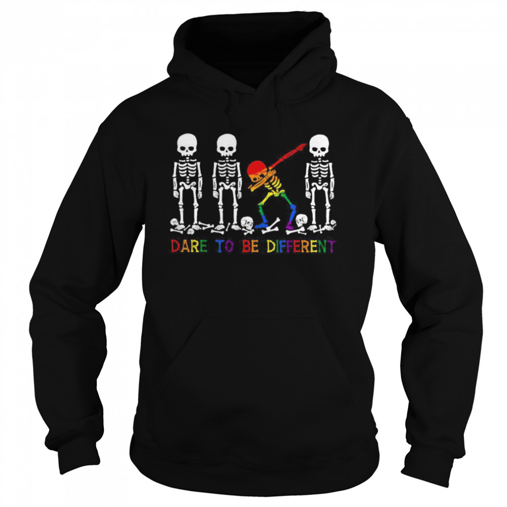 LGBT Skeleton Dare To Be Different Unisex Hoodie