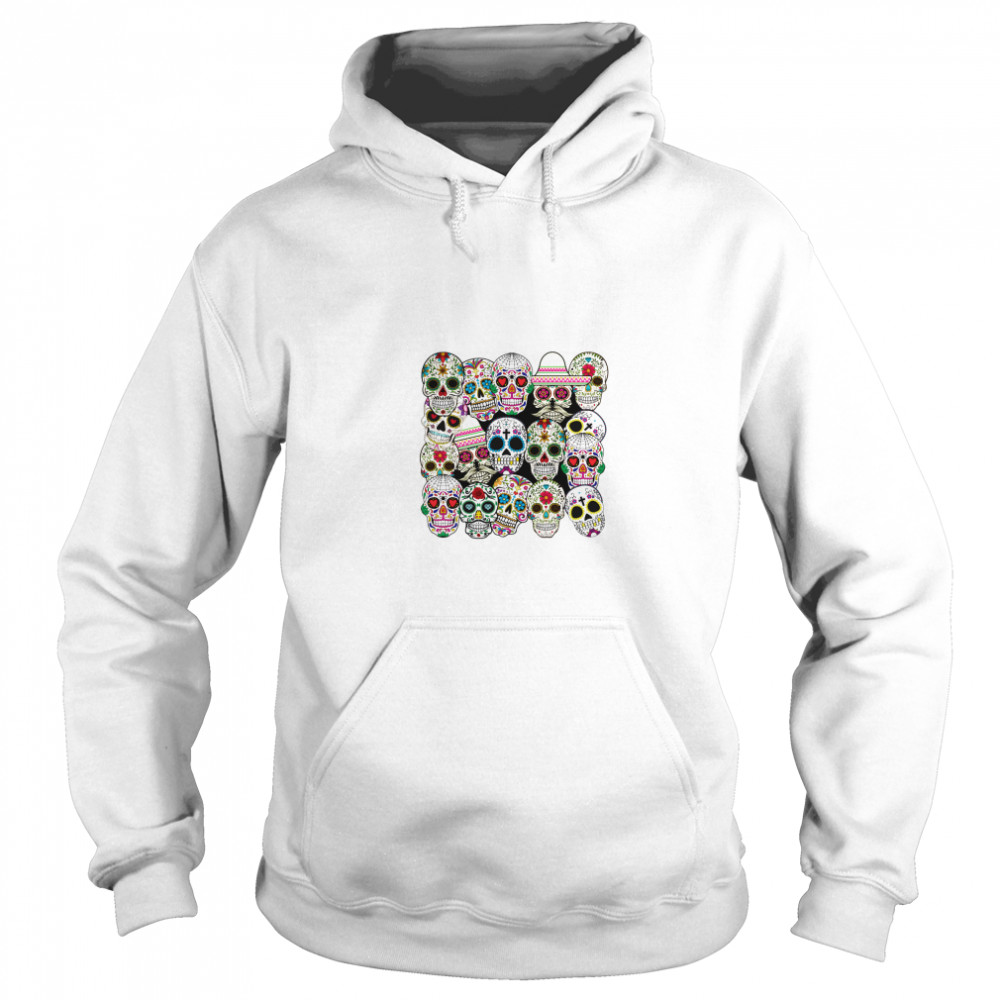 Mexican Day Of The Dead Sugar Skulls  Unisex Hoodie
