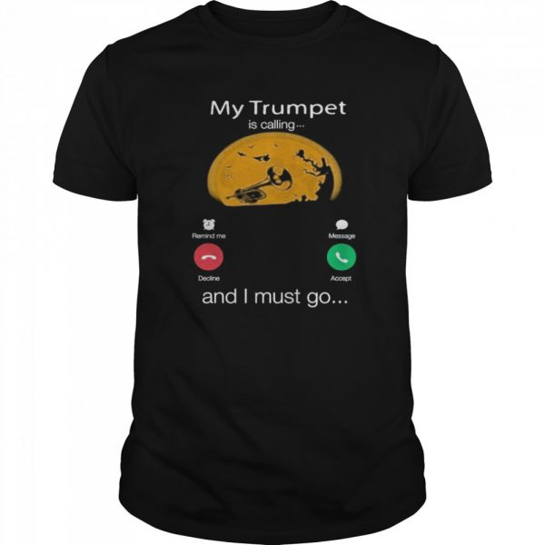 My Trumpet Is Calling And I Must Go Moon Halloween  Classic Men's T-shirt
