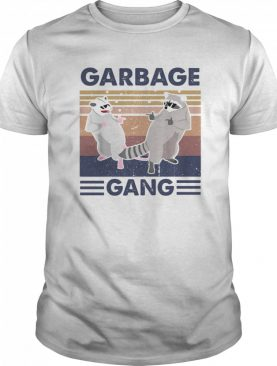 Raccoon garbage gang vintage retro shirt