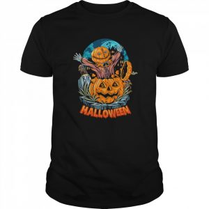 Sack Headed Human Comes Out Halloween  Classic Men's T-shirt