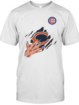 Scratch Chicago Bear And Chicago Cubs T-Shirt