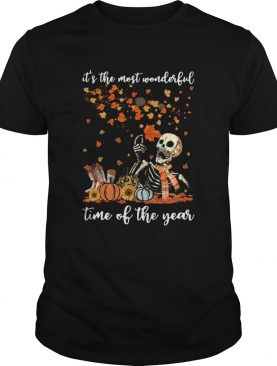 Skeleton Its The Most Wonderful Time Of The Year Pumpkin Halloween shirt