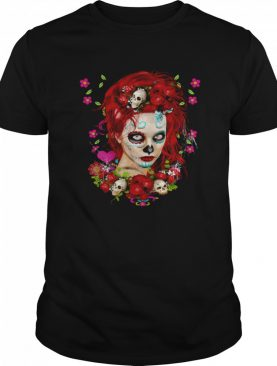 Sugar Doll Red Dia De Muertos shirt