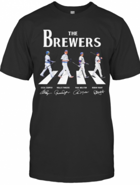 The Brewers Baseball Crossing The Line Signatures T-Shirt