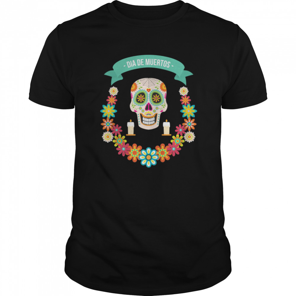 The Mexican Dia De Muertos Sugar Skull Classic Men's T-shirt