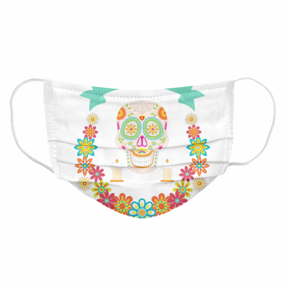 The Mexican Dia De Muertos Sugar Skull Cloth Face Mask