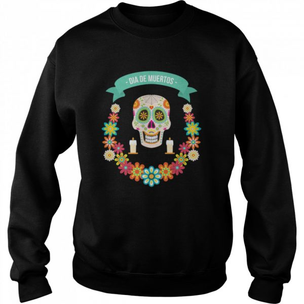 The Mexican Dia De Muertos Sugar Skull  Unisex Sweatshirt