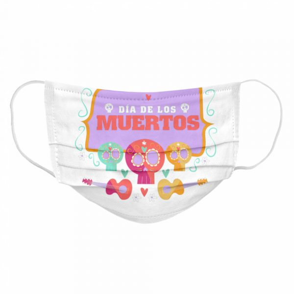 The Mexico Dia De Los Muertos Sugar Skulls  Cloth Face Mask