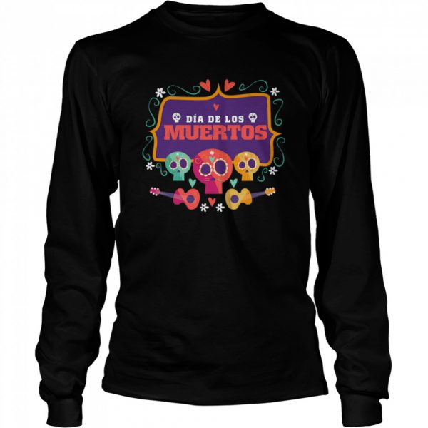The Mexico Dia De Los Muertos Sugar Skulls  Long Sleeved T-shirt