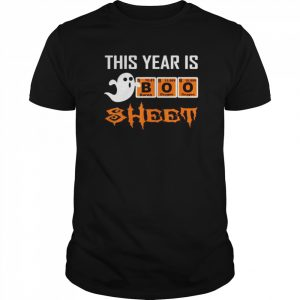 This Year Is Boo Sheet Boo Ghost Halloween Periodic table  Classic Men's T-shirt