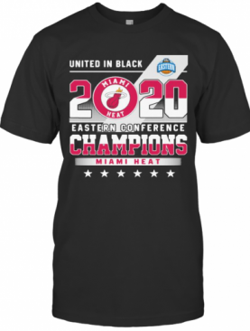 United In Black 2020 Eastern Conference Champions Miami Heat Stars T-Shirt