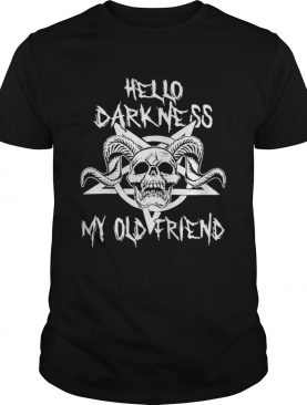 hello darkness my old friend skull star shirt