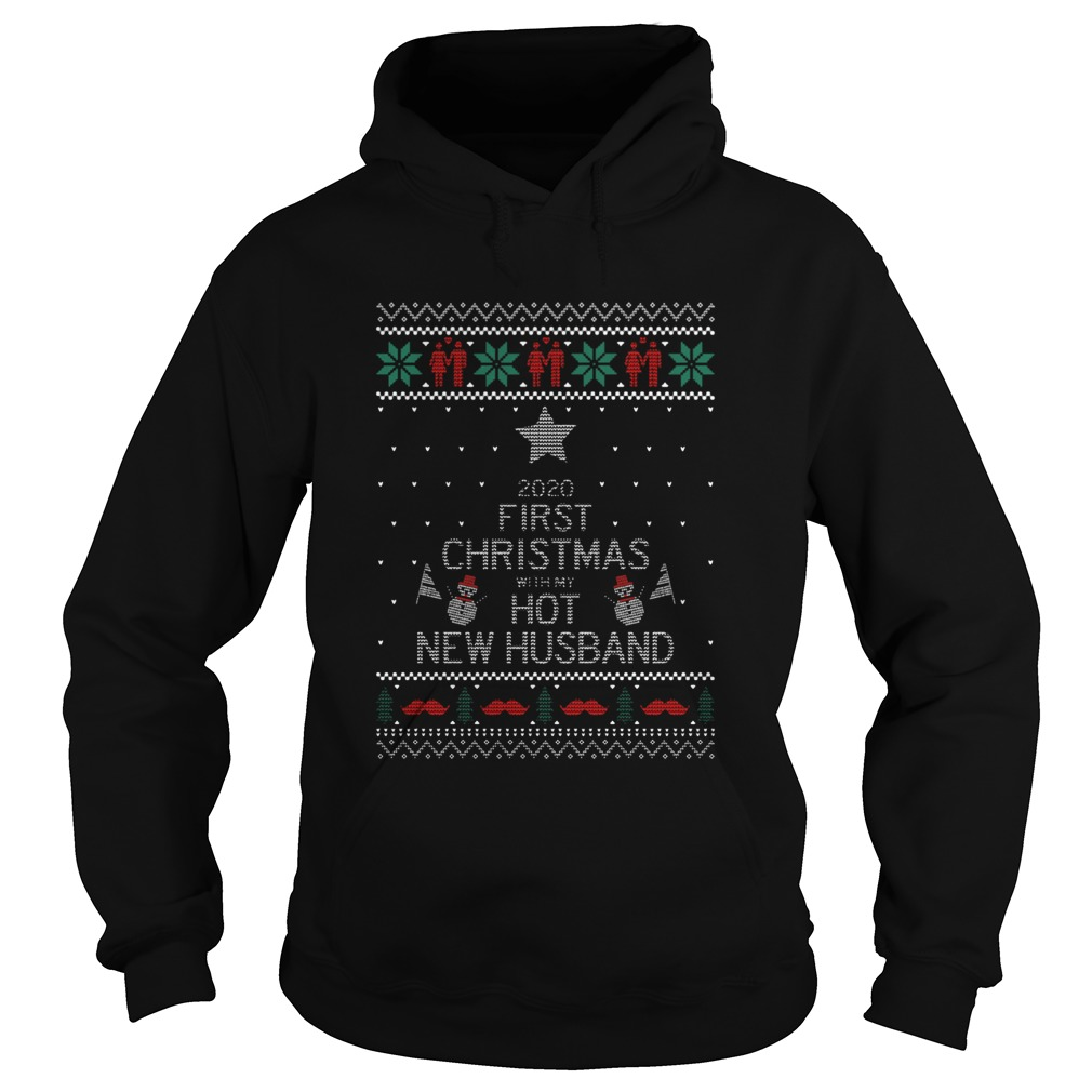 2020 First Christmas With My Hot New Husband Ugly Hoodie