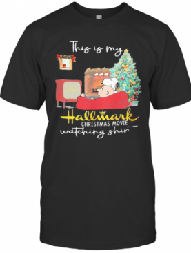 Charlie Brown And Snoopy This Is My Hallmark Christmas Movies Watching T-Shirt