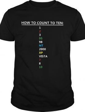 Colorful How To Count To Ten In Software shirt