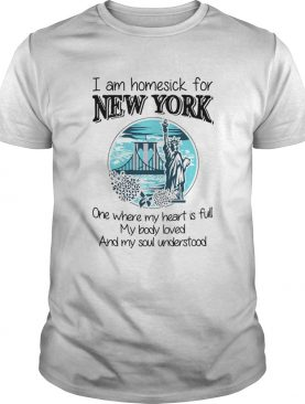I Am Homesick For New York shirt