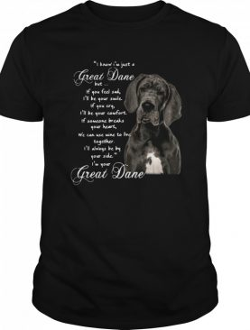 I Know Im Just A Great Dane But If You Feel Sad Ill Be Your Smile If You Cry shirt