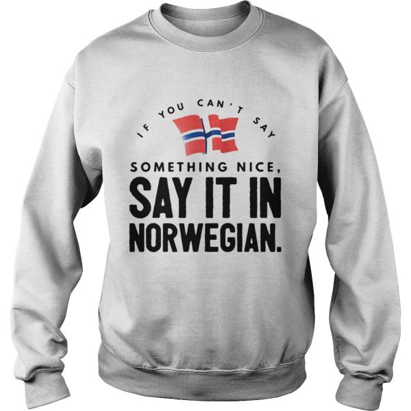 If You Cant Say Something Nice Say It In Norwegian  Sweatshirt