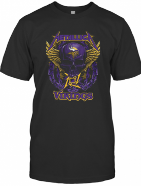 Metallica Skull Minnesota Vikings T-Shirt