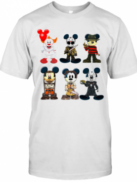 Mickey Mouse Style Horror Character Halloween T-Shirt
