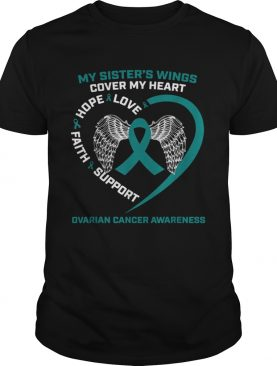 Products In Memory Of Sister Wings Ovarian Cancer Awareness shirt
