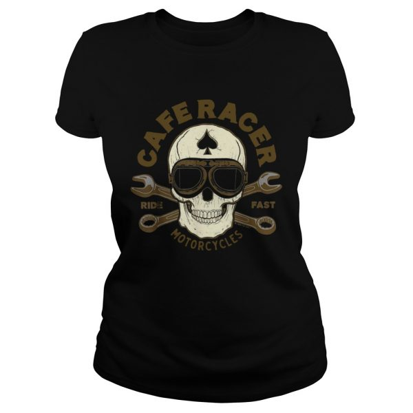 Skull Caferacer Ride Fast Motorcycles  Classic Ladies