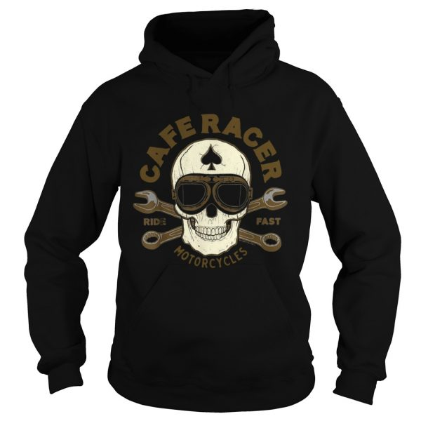 Skull Caferacer Ride Fast Motorcycles  Hoodie