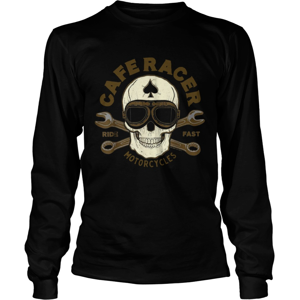 Skull Caferacer Ride Fast Motorcycles Long Sleeve