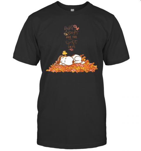 Snoopy Fall Plays Are The First Day T-Shirt Classic Men's T-shirt