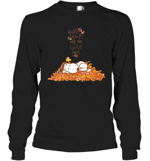 Snoopy Fall Plays Are The First Day T-Shirt Long Sleeved T-shirt