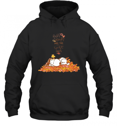 Snoopy Fall Plays Are The First Day T-Shirt Unisex Hoodie