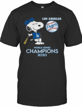 Snoopy Los Angeles Dodgers 2020 World Series Champions T-Shirt