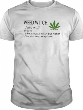 Weed Witch Definition Meaning Like A Regular Witch But Higher shirt