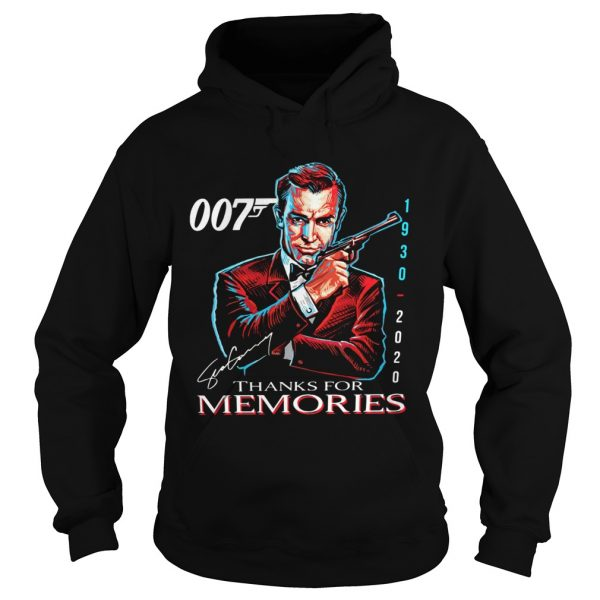 007 Sean Connery 1930 2020 Thank You For The Memories Signature  Hoodie