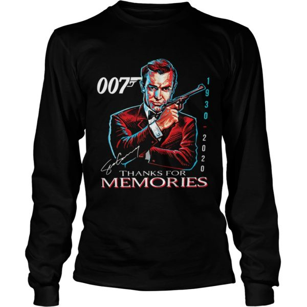 007 Sean Connery 1930 2020 Thank You For The Memories Signature  Long Sleeve